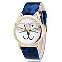 preiswerte Modische Uhren-Damen Armbanduhr Quartz Armbanduhren für den Alltag PU Band Analog Leopard Zeichentrick Modisch Weiß / Blau / Orange - Purpur Gelb Rosa Ein Jahr Batterielebensdauer / Tianqiu 377
