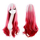 billige Kostumeparyk-Syntetiske parykker / Kostumeparykker Krop Bølge Pink Syntetisk hår Pink Paryk Dame Lågløs