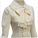 cheap Lolita Dresses-Sweet Lolita Dress Lace Women's Blouse / Shirt Cosplay White / Black / Beige Long Sleeve Medium Length
