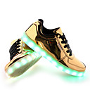 cheap Men's Sneakers-Men's LED Shoes PU(Polyurethane) Spring / Fall Comfort / Slouch Boots Sneakers Slip Resistant Gold / Silver