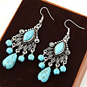 cheap Jewelry Sets-Women's Turquoise Drop Earrings - Turquoise Leaf Vintage, European, Statement Blue For Party / Daily / Casual