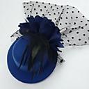 preiswerte Parykopfbedeckungen-Tüll Feder Stoff Fascinators Hüte Kopfstück klassischen femininen Stil
