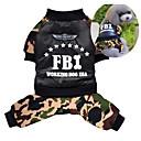 preiswerte Hundekleidung-Hund Mäntel Overall Hundekleidung Polizei / Militär Grün Baumwolle Kostüm Für Haustiere Herrn Damen Cosplay warm halten
