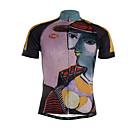 baratos Camisas & Shorts/Calças de Ciclismo-TVSSS Homens Manga Curta Camisa para Ciclismo Moto Camisa / Roupas Para Esporte, Secagem Rápida, Respirável Coolmax®, Lycra