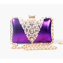 cheap Clutches & Evening Bags-Women's Bags leatherette Evening Bag Beading / Pearl / Imitation Pearl Silver / Purple / Golden
