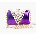 cheap Earrings-Women's Bags leatherette Evening Bag Beading / Pearl / Imitation Pearl Silver / Purple / Golden