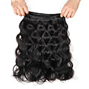 cheap One Pack Hair-3 Bundles Indian Hair Body Wave Virgin Human Hair Natural Color Hair Weaves / Hair Bulk Human Hair Weaves 8a Human Hair Extensions