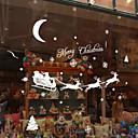 お買い得  クリスマスデコレーション-雪の子鹿クリスマスウォールステッカー18 * 60センチメートルランダムな色