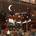 povoljno Božićni ukrasi-pahulje Fawn božićne zidne naljepnice 18 x 60cm slučajnim boja