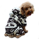 cheap Dog Clothes-Dog Hoodie Jumpsuit Pajamas Dog Clothes Reindeer Gray Coffee Blue Pink Corduroy Costume For Pets Men's Women's Cute Keep Warm