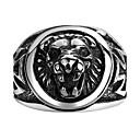 זול טבעות לגברים-בגדי ריקוד גברים טבעת - אריה, חיה ארופאי 8 / 9 / 10 שחור עבור Christmas Gifts / חתונה / Party