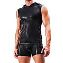 baratos Lâmpadas de LED-Homens Sexy Camiseta Interior Cuecas Sólido Cintura Média