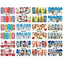 billige Christmas Nail Art-10 pcs 3D Negle Stickers Neglekunst Manikyr pedikyr Mote Daglig / 3D Nail Stickers