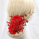cheap Necklaces-Crystal Imitation Pearl Satin Flowers 1 Wedding Special Occasion Headpiece