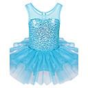 hesapli Kız Çocuk Kıyafet Setleri-Kız Spor Tüm Mevsimler Kolsuz Elbise Fırfırlı Açık Mavi