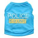 billige Hundetøj-Kat Hund T-shirt Hundetøj Politi/Militær Sort Rose Blå Lys pink Terylene Kostume For kæledyr Herre Dame Sødt Afslappet/Hverdag