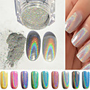 cheap Nail Glitter-1pcs manicure mirror silver powder colorful jewelry 1g manicure boxed with the wand