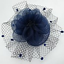 cheap Party Headpieces-Net Fascinators / Headwear / Birdcage Veils with Floral 1pc Wedding / Special Occasion / Casual Headpiece