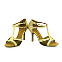 preiswerte Latein Schuhe-Damen Schuhe für den lateinamerikanischen Tanz / Salsa Tanzschuhe Glitzer Sandalen / Absätze Schnalle / Band-Bindung Maßgefertigter Absatz Maßfertigung Tanzschuhe Silber / Blau / Gold / Leistung