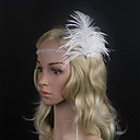 cheap Party Headpieces-Feather Flowers with 1 Special Occasion Headpiece