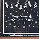 billige Julepynt-Dekorative Mur Klistermærker - Fly vægklistermærker / Vægklistermærker i Spejlstil Romantik / Jul / Ferier butikker / cafeer
