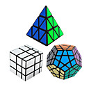 cheap People Paintings-Rubik's Cube 3 PCS Shengshou Pyramid Alien Megaminx Mirror Cube 3*3*3 Smooth Speed Cube Magic Cube Puzzle Cube Speed Professional Gift