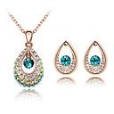 abordables Artículos para Fiestas de Navidad-Mujer Cristal Conjunto de joyas - Moda Incluir Blanco / Morado / Azul Para Diario / Pendientes / Collare