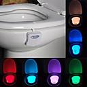 abordables Lámparas de Noche-youoklight 1pc love toilet light cambio de color aa baterías control de luz con cambio de color <5V LED Light>