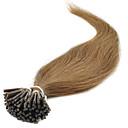 billige Fusionerede hårforlængelser-Febay Fusion / I-tip Menneskehår Extensions Lige Menneskehår Mørk Rødbrun Afbleget Blond Lyseblond