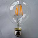 abordables Bombillas LED-1pc 6 W 500 lm E26 / E27 Bombillas de Filamento LED G80 6 Cuentas LED COB Decorativa Blanco Cálido 220-240 V / 1 pieza / Cañas