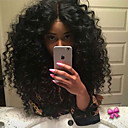 cheap Closure & Frontal-Synthetic Lace Front Wig Curly Synthetic Hair Heat Resistant / Natural Hairline / Middle Part Black Wig Women's Medium Length Lace Front / African American Wig