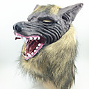 baratos Glitter para Unhas-Máscaras de Dia das Bruxas Máscaras de Carnaval Cabeça de Lobo Terror Látex Borracha 1pcs Peças Adulto Dom