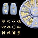 abordables Pinceles para Uñas-1 pcs Joyas de Uñas arte de uñas Manicura pedicura Diario Glitters / Metálico / Moda / Joyería de uñas