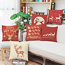 cheap Christmas Decorations-1 pcs Cotton Pillow Case, Holiday Accent / Decorative