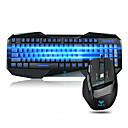 baratos Gadgets USB-Com Fio Combinação de teclado de mouse Retroiluminado / DPI ajustável / Derramamento resistente USB Port Teclado de Gaming Mouse para Jogos 800-2000 dpi 7 pcs