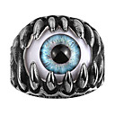 baratos Anéis para Homens-Homens Zircônia cúbica Anel - Caveira Personalizada, Europeu, Góticas 8 / 9 / 10 Azul Para Casamento / Festa / Diário