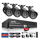 cheap DVR Kits-SANNCE® 8CH 4 in 1 720P HDMI AHD CCTV DVR 4PCS 1.0 MP IR Outdoor Security Camera Surveillance System Built-in 1TB HDD