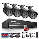 preiswerte CCTV Kameras-Sanzence 8ch 4 in 1 720p hdmi ahd cctv dvr 4pcs 1.0 mp ir Außensicherheitskamera-Überwachungssystem eingebaute 1tb hdd