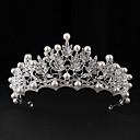 cheap Party Headpieces-Imitation Pearl Alloy Tiaras 1 Wedding Special Occasion Casual Headpiece
