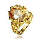 halpa Muotisormukset-Naisten Cubic Zirkonia Sormus - 18K Kultapäällystetty, Gold Plated Suuri 6 / 7 / 8 Kulta Käyttötarkoitus Häät / Party / Päivittäin
