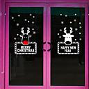 cheap Window Film & Stickers-Art Deco Contemporary Window Sticker, PVC/Vinyl Material Window Decoration Dining Room Bedroom Office Kids Room Living Room Bath Room