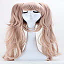 cheap Videogame Cosplay Wigs-halloween holiday party wigs 65cm anime hair junko enoshima double ponytail clip long synthetic cosplay hair wig Halloween