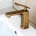 cheap Faucet Sets-Bathroom Sink Faucet - Pre Rinse / Waterfall / Widespread Antique Copper Centerset Single Handle One Hole