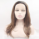cheap Synthetic Capless Wigs-Synthetic Lace Front Wig Natural Wave Blonde Synthetic Hair Dark Roots / Natural Hairline Blonde Wig Women's Long / Very Long Lace Front