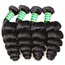 abordables Pelucas para Disfraz-4 paquetes Cabello Brasileño Ondulado Amplio Cabello humano Tejidos Humanos Cabello Cabello humano teje Extensiones de cabello humano