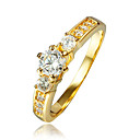 cheap Rings-Women's AAA Cubic Zirconia Cluster Ring - 18K Gold Plated, Gold Plated 6 / 7 / 8 Gold For Wedding / Party / Daily