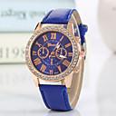 baratos Relógios da Moda-Geneva Mulheres Relógio de Pulso imitação de diamante PU Banda Amuleto / Brilhante / Casual Preta / Branco / Vermelho / Um ano / Tianqiu 377
