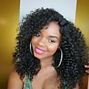 olcso Emberi hajból készült parókák-Emberi haj Tüll homlokrész / Csipke eleje Paróka afro / Kinky Curly Paróka Természetes hajszálvonal / Afro-amerikai paróka / 100% kézi csomózású Női Rövid / Közepes / Hosszú Emberi hajból készült