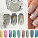 billige Negleglitter-1pc Glimmer Negle Smykker Smuk Neglekunst Manikyr pedikyr Glitters / Chic & Moderne / trendy / Shimmering
