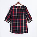 baratos Mocassins Femininos-Mulheres Tamanhos Grandes Camiseta Pregueado, Estampa Colorida